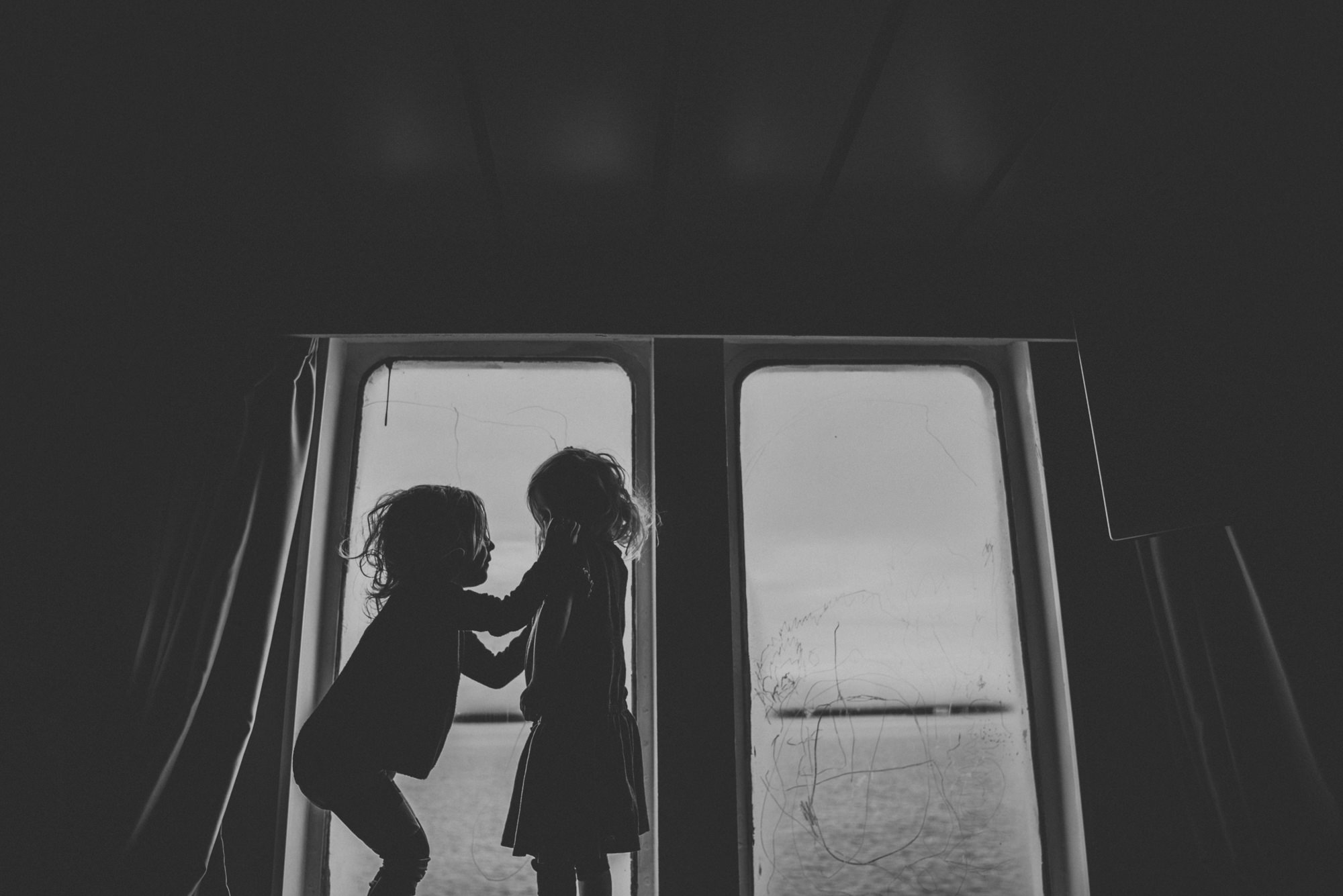 toddler travelling on a boat