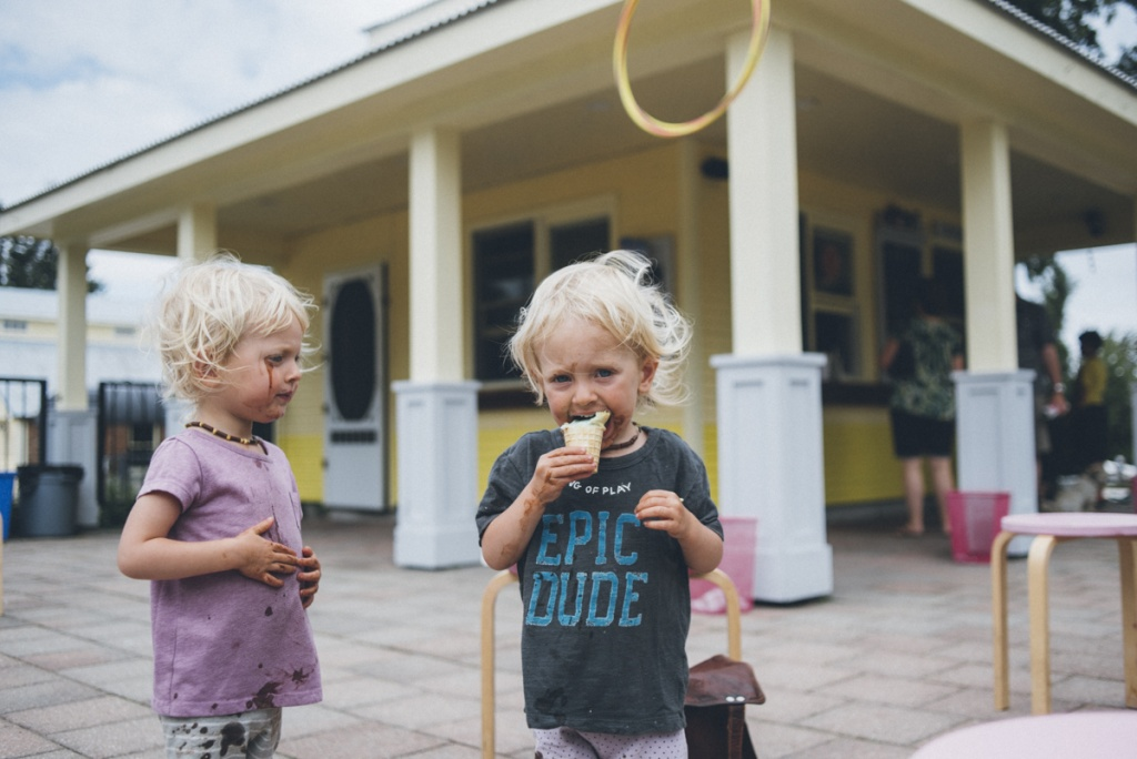 toddler eating ice-cream, photo by sarah tacoma.