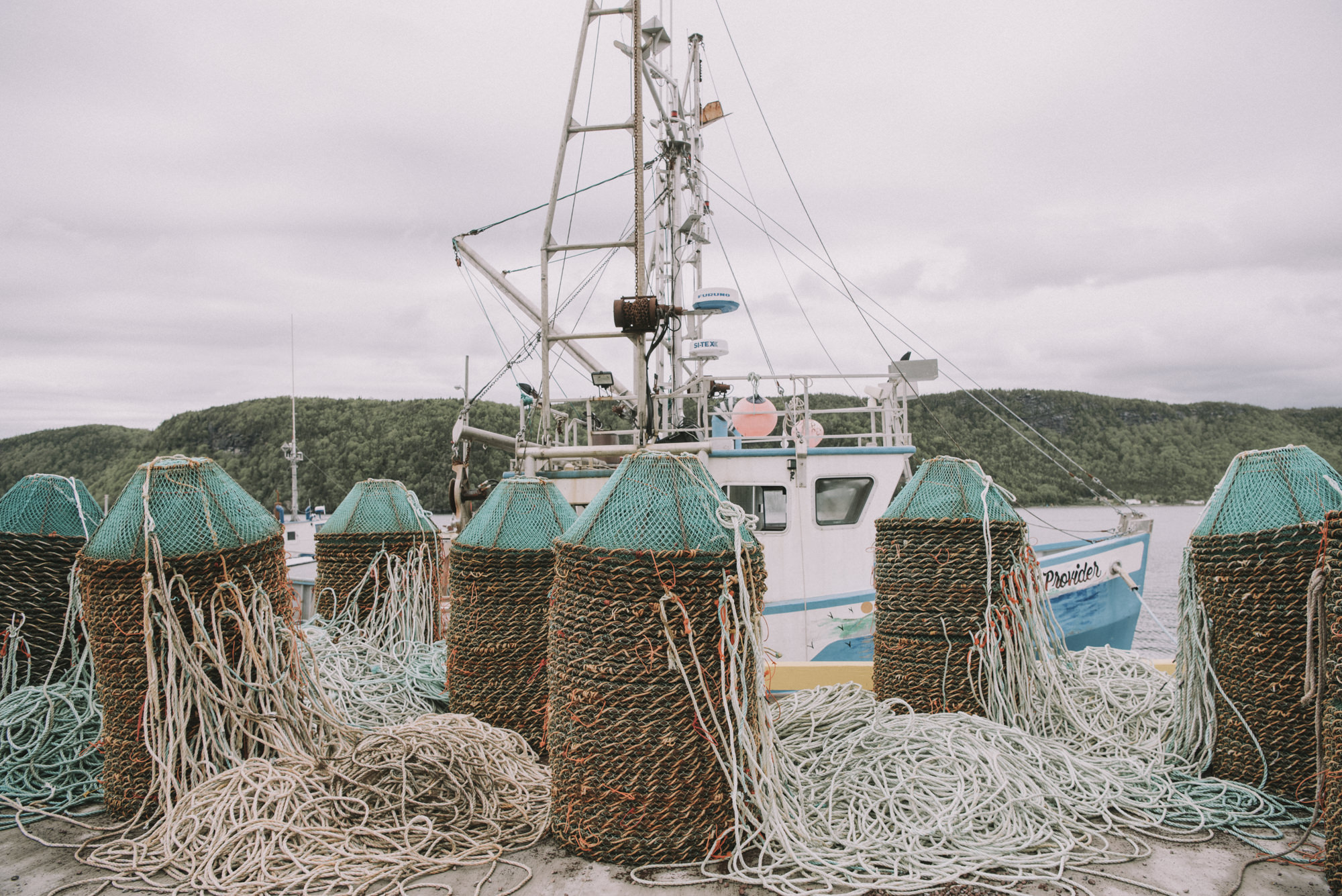 fishing nets and baskets