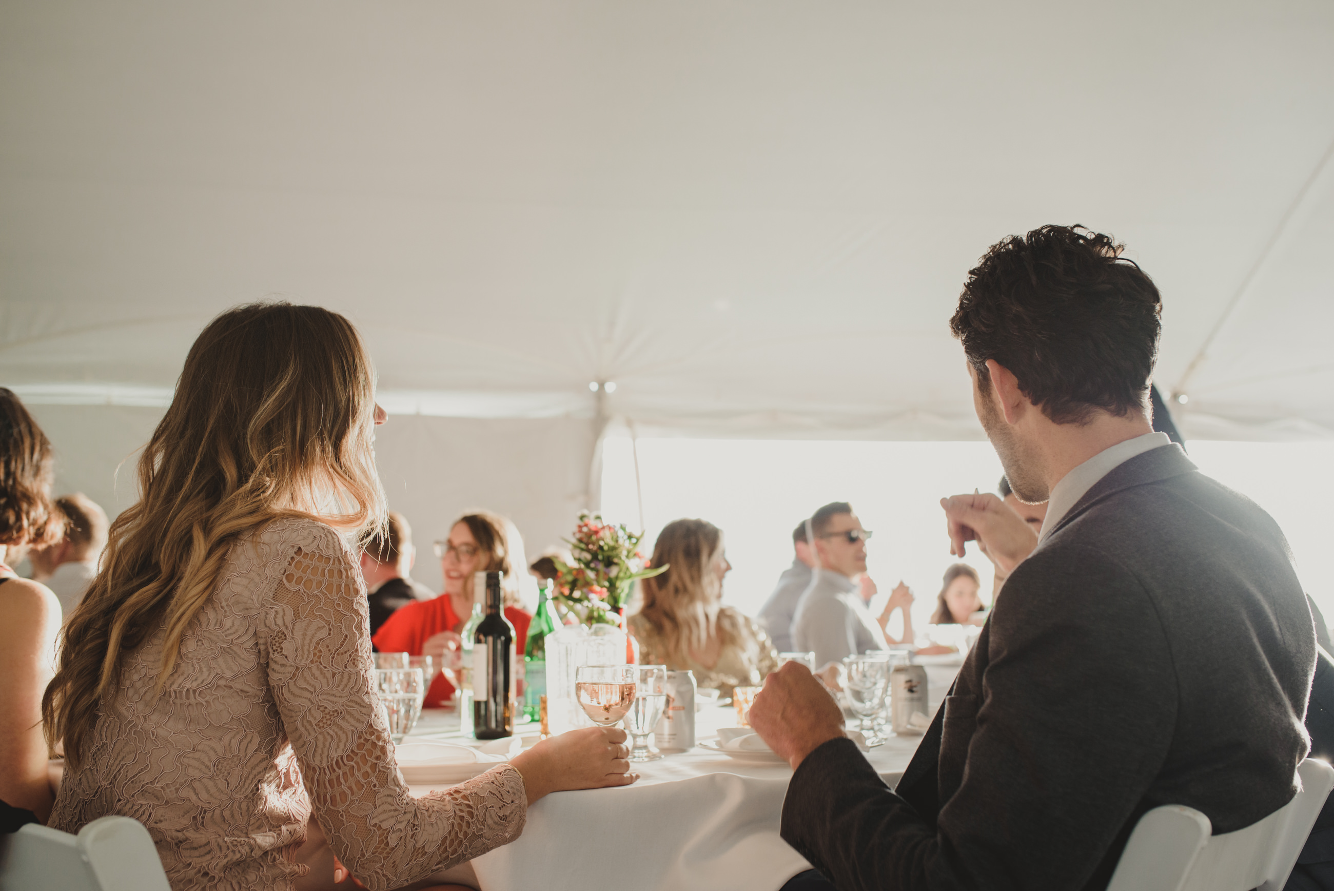 tent reception with beautiful light, Owen sound